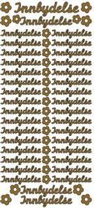 Bilde av Klistremerker - 0158 - Outline stickers - Innbydelse små - Gull