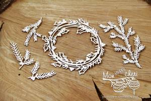 Bilde av Scrapiniec - Chipboard - 4310 - Merry Mon Cheri - Large wreath