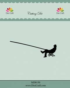 Bilde av Dixi Craft - Dies - MD0150 - Sitting Fisherman