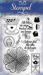 Bilde av Papirdesign - Stempel - PD16184 - Te og kaker