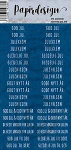 Bilde av Papirdesign - Klistremerker - 2100738 - Gledelig jul, blå