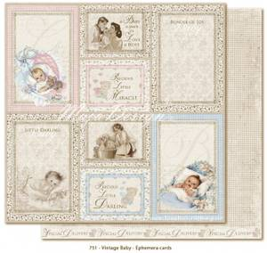 Bilde av Maja Design - 751 - Vintage Baby - EPHEMERA CARDS