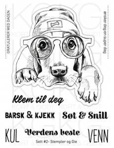 Bilde av Kort & Godt - Stempel og Die - Sett #2 - Hund med lue
