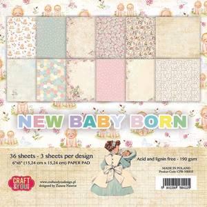 Bilde av Craft & You - NBB15 - New Baby Born - 6x6 Paper Pad