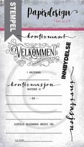 Bilde av Papirdesign - Stempel - PD18397 - Konfirmasjonsfest