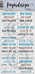 Bilde av Papirdesign - Klistremerker - 2000472 - En blå gratulasjon