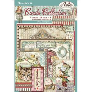 Bilde av Stamperia - Cards Collection - Alice Through the Looking Glass