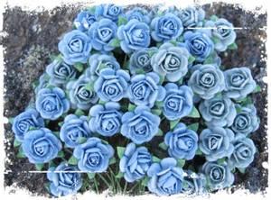 Bilde av Papirdesign - Roser - 1,0cm - Vintage blå