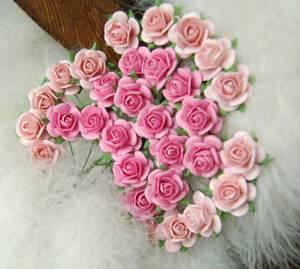 Bilde av Papirdesign - Roser - 1,8cm - Rosa og lys rosa
