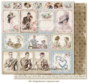 Bilde av Maja Design - 840 - VINTAGE ROMANCE - EPHEMERA CARDS
