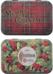 Bilde av Tim Holtz - Idea-ology - TH94005 - Trinket Tins Christmas (2pcs)