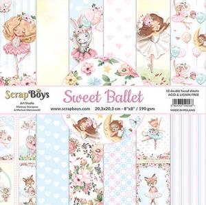 Bilde av ScrapBoys - Sweet Ballet - 8x8 - Paper Pad