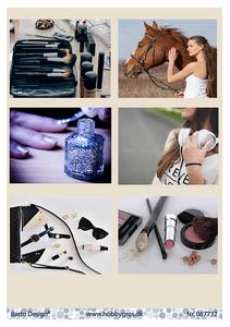 Bilde av Barto Design - Klippeark A4 - 067732 - Girls & Make Up
