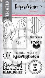 Bilde av Papirdesign - Stempel - PD2100557 - Kjærlighet er kjærlighet