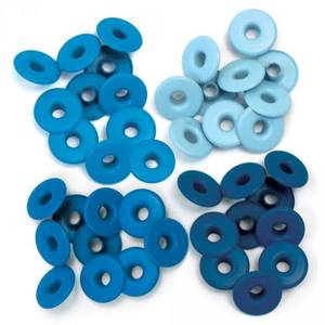 Bilde av We R Memory Keepers - Wide Eyelets - Blue - 40 stk