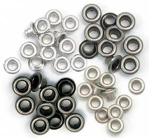 Bilde av We R Memory Keepers - Standard Eyelets - Cool Metal - 60 stk