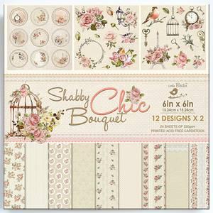 Bilde av Little Birdie - 6x6 Paper Pack - Shabby Chic Bouquet