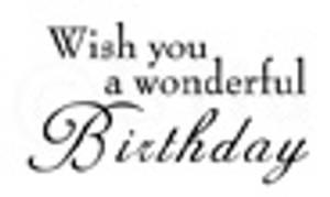 Bilde av Bildmålarna - Text - Wish you a wonderful Birthday - mini