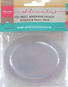 Bilde av Marianne Design - LR0031 - Shaker Windows - Oval - 9cm
