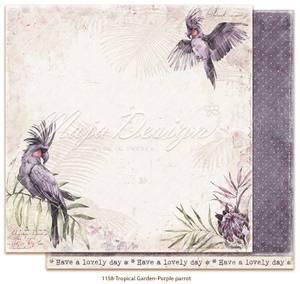 Bilde av Maja Design - 1158 - Tropical Garden - Purple parrot