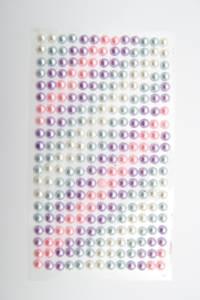 Bilde av Kort & Godt - Stickers - ST-167 - Perle - 6mm - Krem/blå/lilla/r