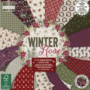 Bilde av First Edition - 220 - 6x6 Paper Pad - Winter Rose