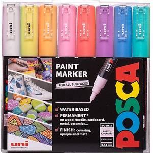 Bilde av Uni POSCA - PC-1M - Extra-Fine 0,7-1mm - Sett Pastell 8stk