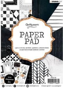 Bilde av Studiolight -  130 - PaperPad 14,8x21cm - PPSL130 - Black/White