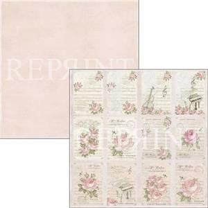 Bilde av Reprint - 12x12 - RP0326 - Music & Roses - Tags