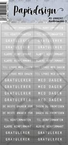 Bilde av Papirdesign - Klistremerker - 1900297 - Konfirmant 3 , grå