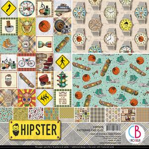 Bilde av Ciao Bella - 035 - 12x12 Patterns Pad - Hipster - 8pk