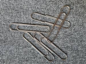 Bilde av Binders - 80 x 15 mm - Sølv - 5 stk