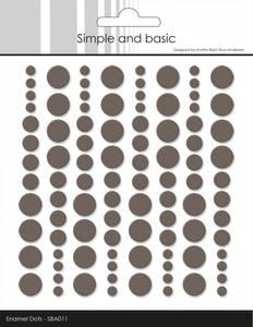 Bilde av Simple and Basic - SBA011 - Enamel Dots - Warm Grey