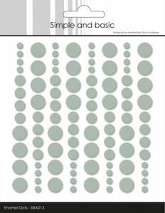 Bilde av Simple and Basic - SBA013 - Enamel Dots - Sage (lys grønn)