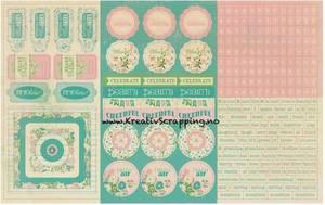 Bilde av Authentique - Cardstock Stickers - 8x12 - SEA020 - SPRING