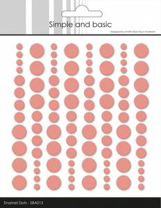 Bilde av Simple and Basic - SBA015 - Enamel Dots - Fresh Peach (rosa)