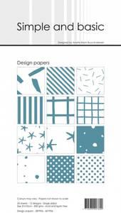 Bilde av Simple and basic - Paper Pack - SBP906 - 10x21cm - Aqua