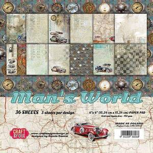 Bilde av Craft & You - MAN15 - Man's World - 6x6 Paper Pad