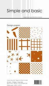 Bilde av Simple and basic - Paper Pack - SBP910 - 10x21cm - Cognac