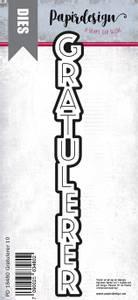 Bilde av Papirdesign Dies PD18480 - Gratulerer 10