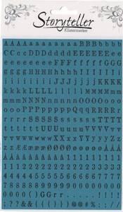 Bilde av Storyteller - Tiny Stickers - 8912 - OLD NEWSPAPER - TEAL BLUE