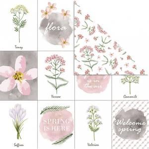 Bilde av Vivi Gade - Designpapir - Blomster - 5 stk ark