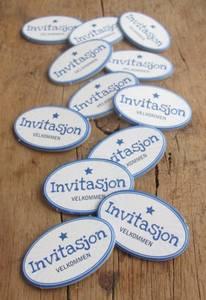 Bilde av Papirdesign - Chipboards - 627 - Invitasjon blå