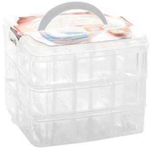 Bilde av Storage Box - 3 Layers - Clear - 15x15x13 cm