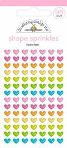 Bilde av Doodlebug - 6621 - Shapes Sprinkles - Heart-fetti
