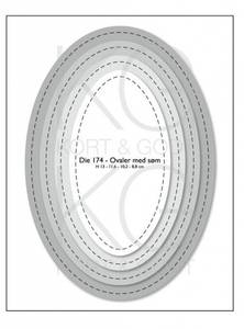 Bilde av Kort & Godt - Die 174 - Ovaler med søm
