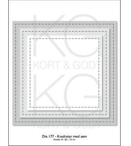 Bilde av Kort & Godt - Die 177 - Kvadrater med søm
