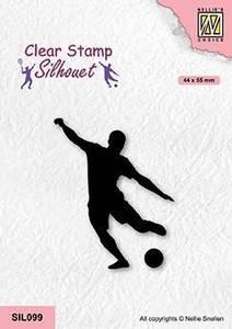 Bilde av Nellie Snellen - Clear stamp - SIL099 - Soccer Player