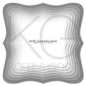 Bilde av Kort & Godt - Die 207 - Kvadratisk form med søm