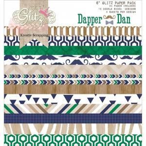 Bilde av Glitz Design - Paper Pad 6x6 - PP1424 - DAPPER DAN